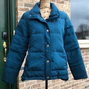 Loft puffer coat size medium color teal
